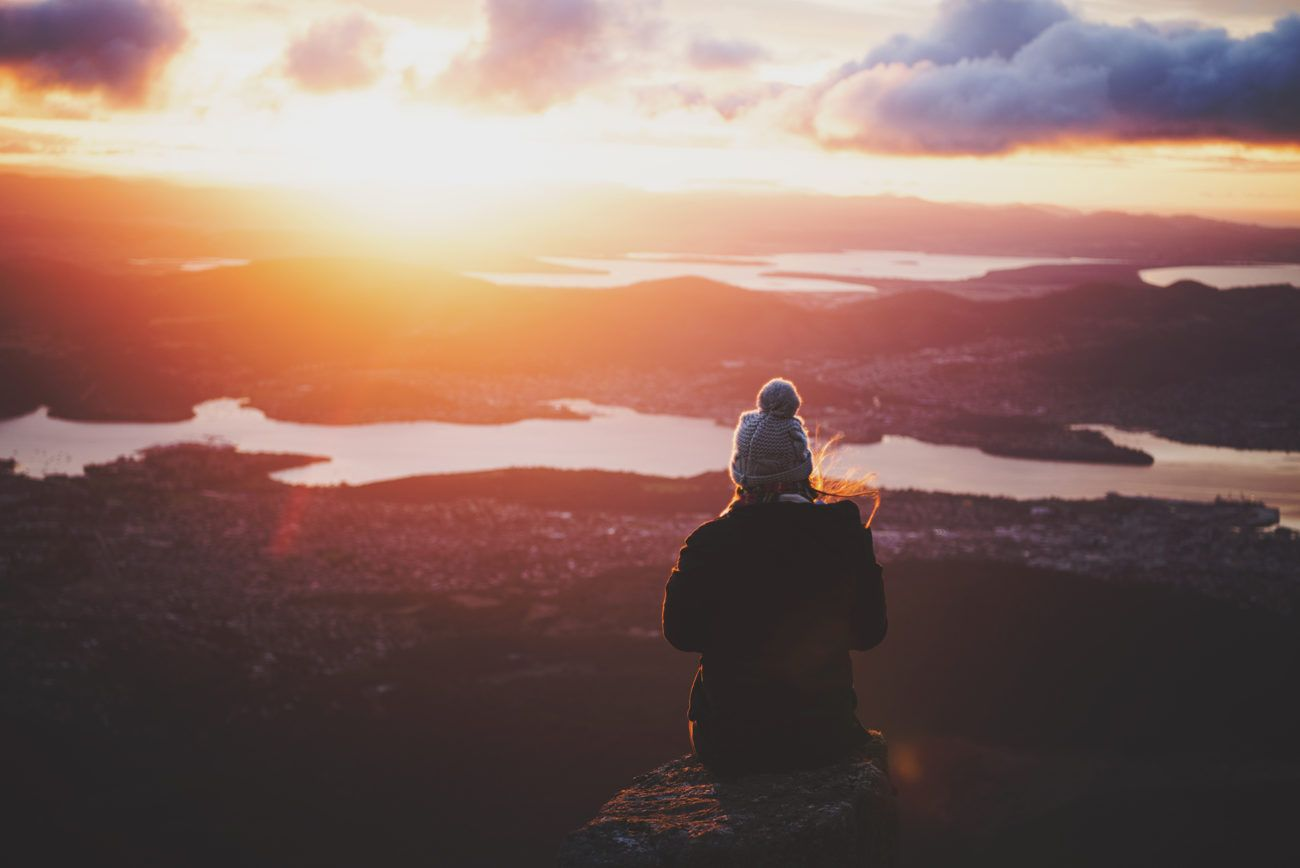 Lauren Bath - Mount Wellington in Hobart Tasmania at dawn. Australia