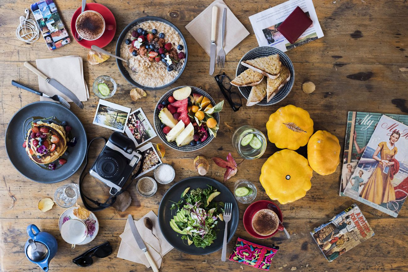Lauren Bath - Flat Lay Breakfast at Seasonal Garden Cafe Hahndorf. South Australia