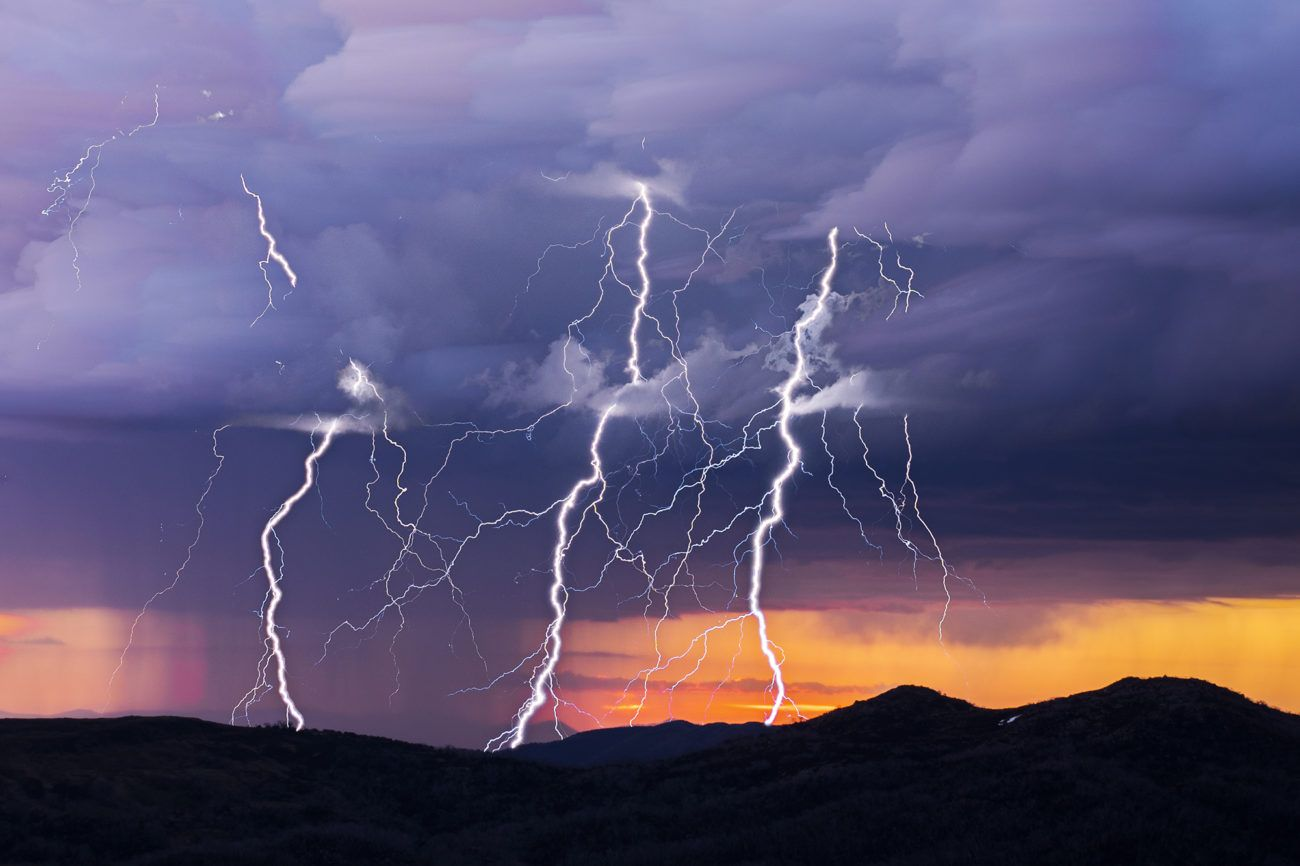 Lauren Bath - Three Strikes Lighting Storm Travel Photography. Falls Creek, Victoria High Country Australia