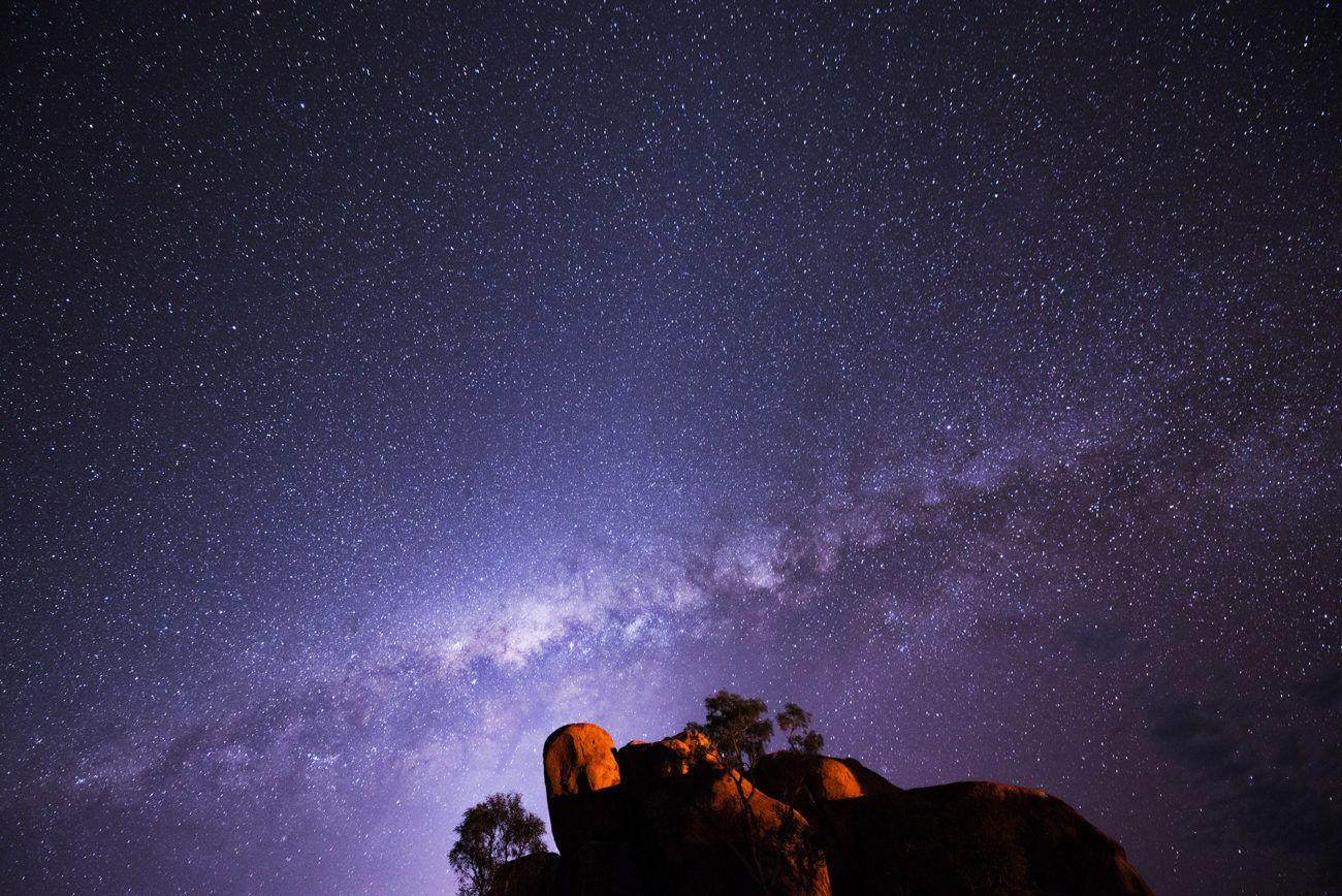 Lauren Bath - The Milky Way Travel Photography. Devils Marbles Karlu Karlu Conservation Reserve. Northern Territory, Australia