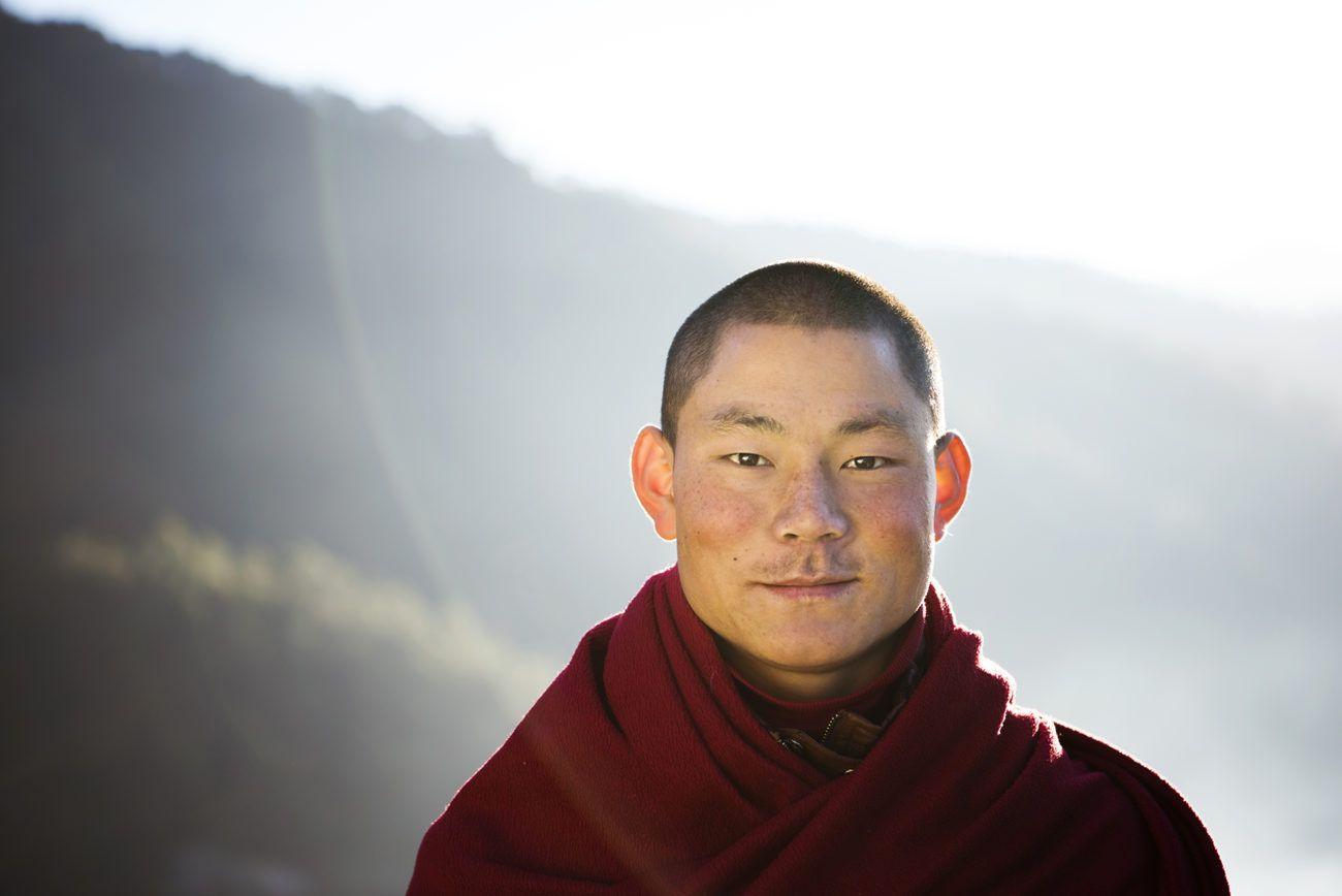 Lauren Bath - Punakha Monk Portrait Bhutan