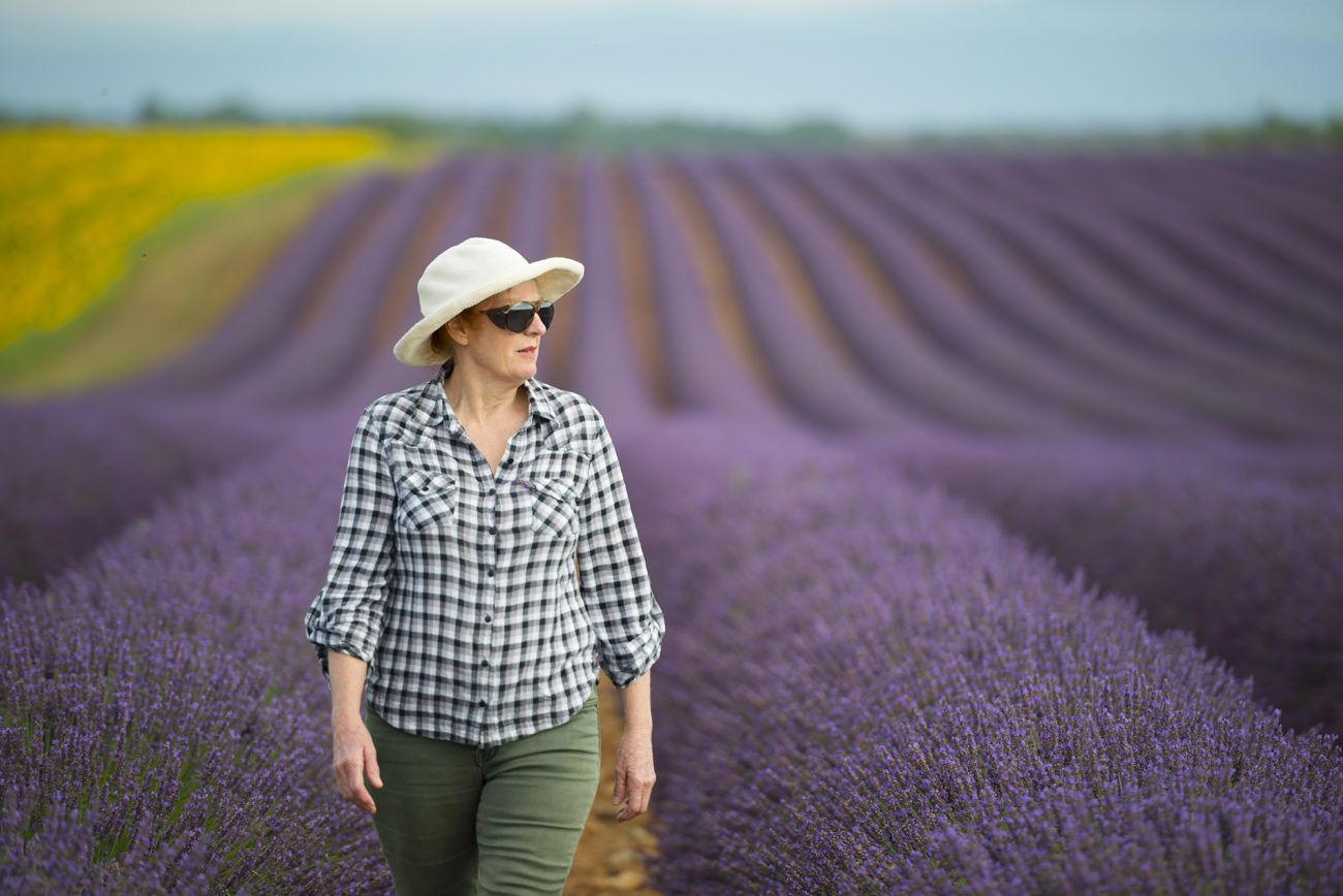 Lauren Bath - Lavender Fields Portrait Provence, France