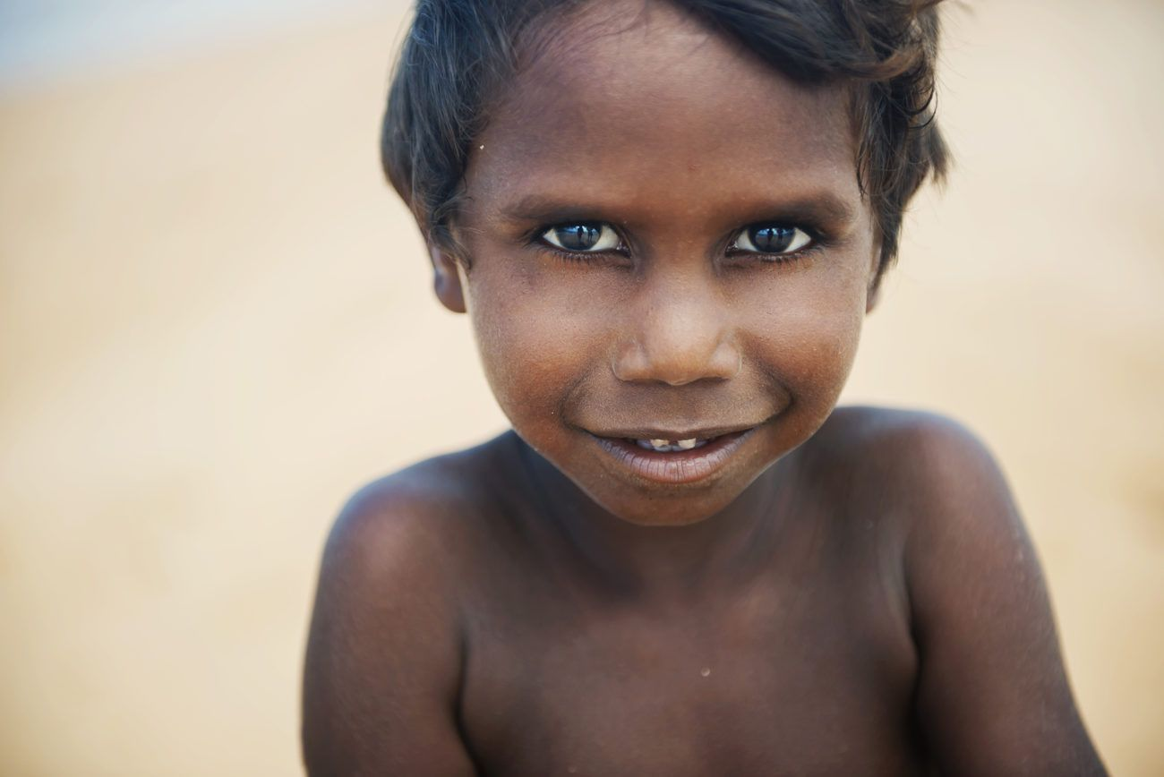 Lauren Bath - Indigenous Boy Aboriginal Child Portrait Arnhem Land. Northern Territory, Australia